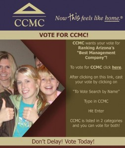 Vote for CCMC 2013